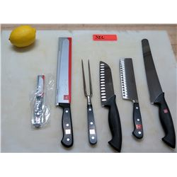 Qty 4 Wusthof Classic Chef Knives w/ Paring Knife & Granny Fork