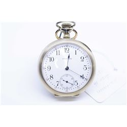 Waltham, size 16 pocket watch, grade 635, 17 jewel, serial # 22045641, dates this to 1918; nickel si