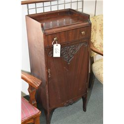 Antique single drawer, single door music cabinet