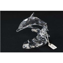 "Swarovski crystal dolphin 3 3/4"" in height"