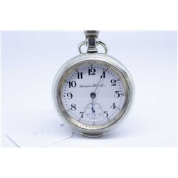 Hampden size 18 pocket watch, 17 jewel model 3, serial # 3101657 dates this watch to 1913, engraved