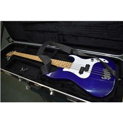 Greg Bennett design Corsair electric base guitar in purple lacquered finish and hard case