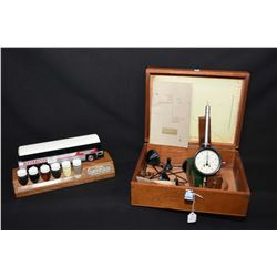 Vintage Sensitive Anemometer by C.F. Casella, London in fitted wooden box plus a Suncor desk top pre
