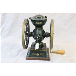 """Landers Frary & Clark #20 cast coffee mill made by New Britain, Conn. U.S.A, 12 1/2"""" in height"""