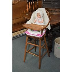 """Vintage composition Effanbee Bubbles doll on a cloth body, 22"""" in length, note some crazing and pain"""