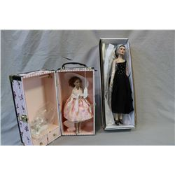 """Two Robert Tonner dolls including Theatre de la mode Gina, 16"""" in height and Tiny Kitty Collier 10"""""""