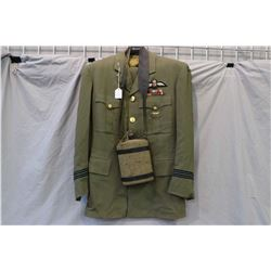 Canada RCAF airman's uniform with badges including pants and jacket and a canteen