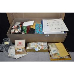 Large box containing vintage stamps and stamp albums