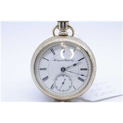 Hampden size 18 pocket watch, 9 jewel grade Gladiator, serial # 741213 dates this watch to 1892 with