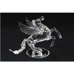 Swarovski crystal The Pegasus from the Fabulous Creatures Collection with signed plaque stand, fitte