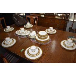 Selection of Mikasa Pembroke bone china including twelve each of dinner plates, snack plates, bread