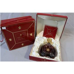 Unopened bottle of Remy Martin Louis VIII Grand champagne Cognac in Baccarat crystal bottle with ori