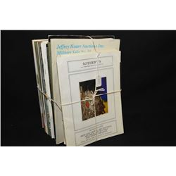 Selection of vintage auction catalogues including Sotheby's, Christies, Waddington etc. mostly art,