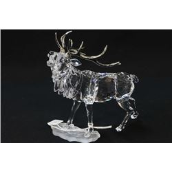 "Swarovski crystal stag, 5 1/2"" in height in presentation box with shipper"