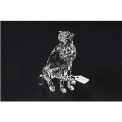 "Swarovski crystal Cheetah 4 3/4"" in height with original box"