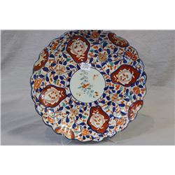 "Antique hand-painted Japanese Imari charger 12"" in diameter"