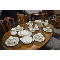 "Large set of Royal Doulton ""Juliette"" H5077 fine bone china including 12 each of dinner, luncheon, b"