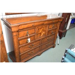 Large quality ten drawer bedroom bureau with hat cupboard made by Thomasville