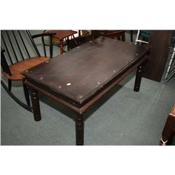 Spanish style coffee table with turned supports and nail head decoration
