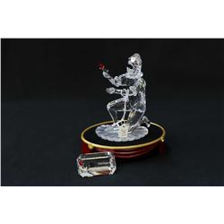Swarovski crystal figurine Masquerade Harlequin with crystal presentation plaque, base, fitted box a