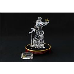 Swarovski crystal figurine Masquerade Columbine with crystal presentation plaque, base, fitted box a