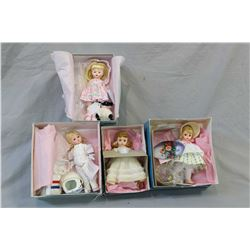 """Four boxed Madame Alexander 8"""" dolls including Easter Bonnet, Mary had a little lamb, USA 20170 astr"""