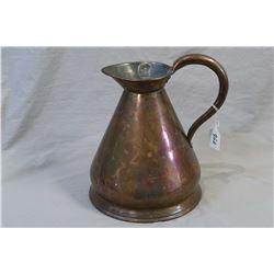 Vintage copper one gallon pitcher