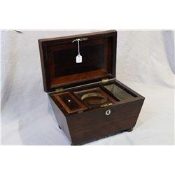 Antique Georgian mahogany tea caddy