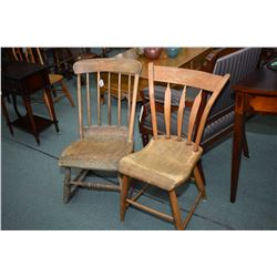 Antique upper Canadian chairs including a side chair and a rocker