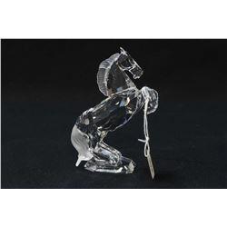"Swarovski crystal White Stallion figure, 4 1/2"" in height with original box"