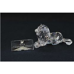 """Swarovski crystal The Lion from the Inspiration Africa Collection, 2 3/4"""" in height with crystal pre"""