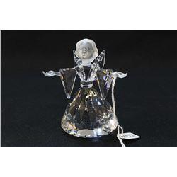 "Swarovski crystal Christmas Angel 3 3/4"" in height with original box"