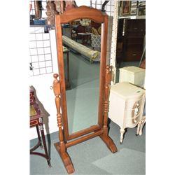 Semi-contemporary Kroehler floor standing cheval mirror