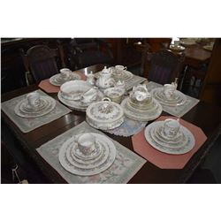 """Large selection Royal Standard """"Mandarin"""" china tableware including ten each of dinner, lunch, bread"""