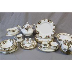"""Selection of Royal Albert bone china """"Celebration"""" including plates, cups and saucers, teapot, two s"""