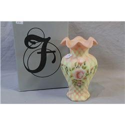 "Bill Fenton memorial signature series vase hand signed by artist Melissa Natter 131/2950, 9"" in heig"