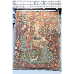 """Tapestry wall hanging with fairytale pictorial 47"""" X 37"""""""