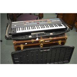 Roland Juno-106 programmable polyphonic synthesizer with hard case