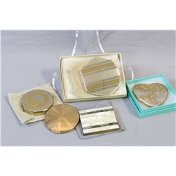Five vintage compacts including Wadsworth, New Light, Elgin American etc.