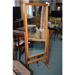 Floor standing modern cheval mirror