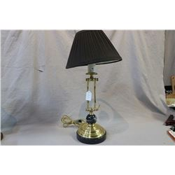 Brass and marble student lamp