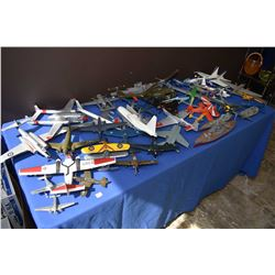 Large selection of assembled plastic model kits mostly planes including most of the original boxes