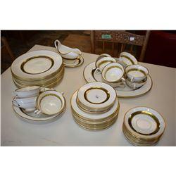 Set of Coalport china tableware including twelve dinner plates, nine luncheon plates, eight bread pl