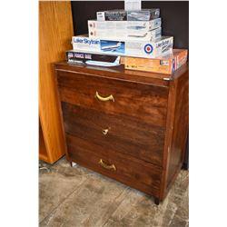 Three drawer bedroom chest