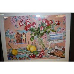 """Framed limited edition print """"PS I Love You"""" pencil signed by artist Willie Wong 187/950"""