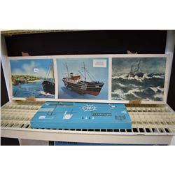 Unassembled ships model Flevo MS Progress 5 with accessory kit