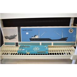 Unassembled ship model kit Mercantic made by VHT Billing Boats, Denmark with accessory kit