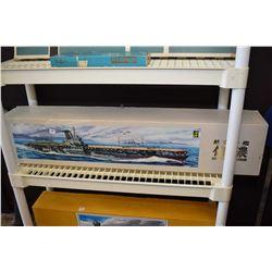 Unassembled ship model kit of an aircraft carrier Chinano