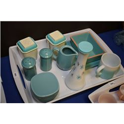 Selection of 1960's kitchenware including shakers, servers, etc