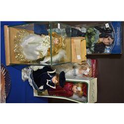 Selection of dolls including bride, etc